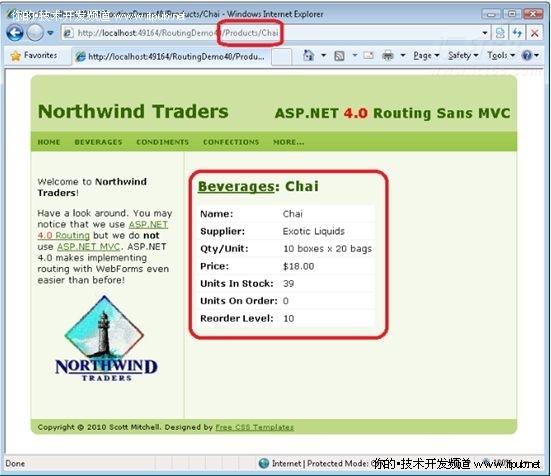 使用ASP.NET 4.0路由