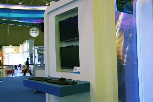台北电脑展英特尔笔记本电脑展台先曝光