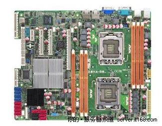 bridge芯片组组合,板载2个socket 1366插槽,支持英特尔四核至强w5500