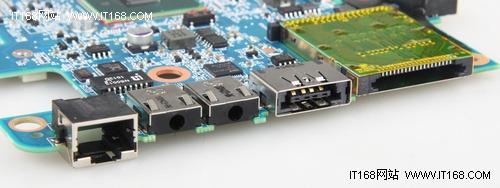 1个rj45接口,1组音频输入/输出接口,1个esata接口与1个7合1读卡器