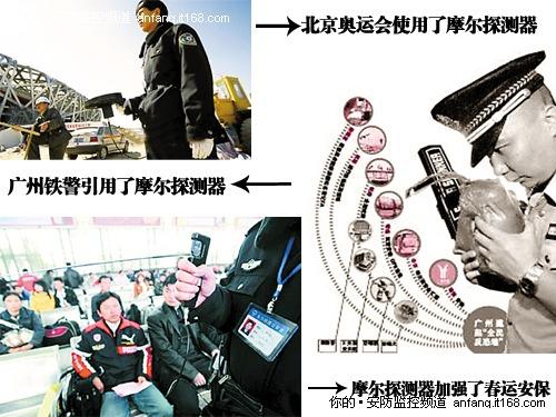 这种探测器是一种手持探测仪,无需电池,靠使用者自身静电场驱动.