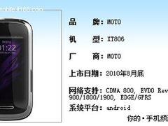 FWVGA触屏 MOTO透明翻盖XT806参数全曝
