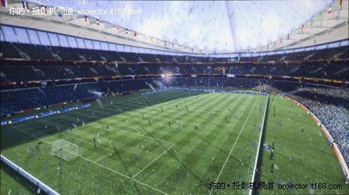 爱普生TW450足球游戏画面实拍