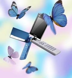 旋舞的美丽蝴蝶 联想TD60t手机美图鉴赏