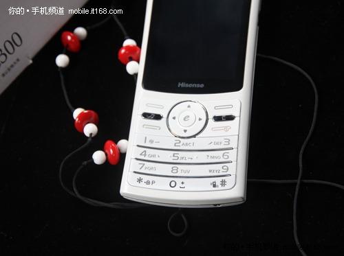 3G超薄社交手机 海信E300珍珠白奸商图
