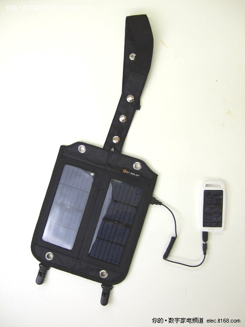 可安装在背包上的太阳能充电器