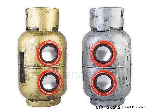 MP3太出位 液化气瓶子造型居然也是喇叭