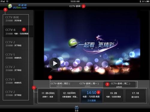 高清随心看 iPad用户UUSee TV功能体验