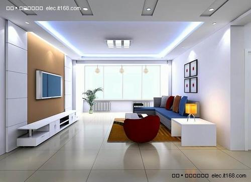 三居室-120平米-客厅装修效果图; 豪华装修; 室内棚顶造型 室内客厅棚