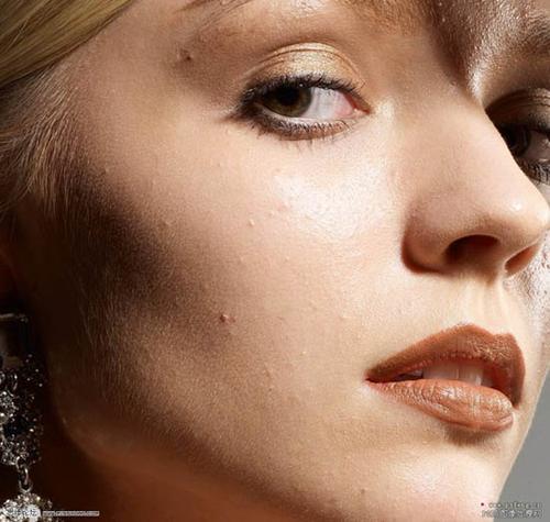 photoshop给质感精细磨皮加强五官广告v质感人物设计费分录图片