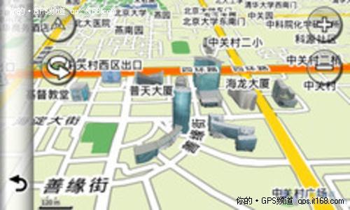 3d导航:精确的3d路口实景图,360度三维立体建筑地图能您很快识别
