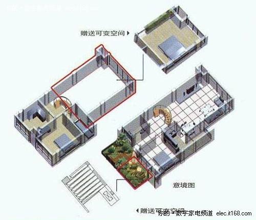 家装两室两厅电路布线图纸