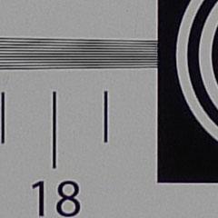广角端锐度对比展示