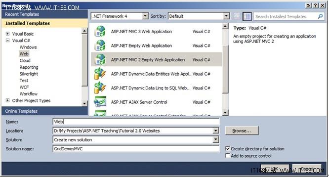 创建ASP.NET MVC项目