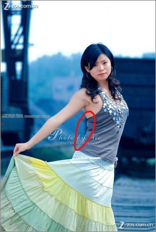 photoshop巧用液化工具为美女修身技巧