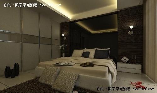 【家居造型天花板设计图片卧室卧室背景墙,床,吊顶,黑色白色】家居