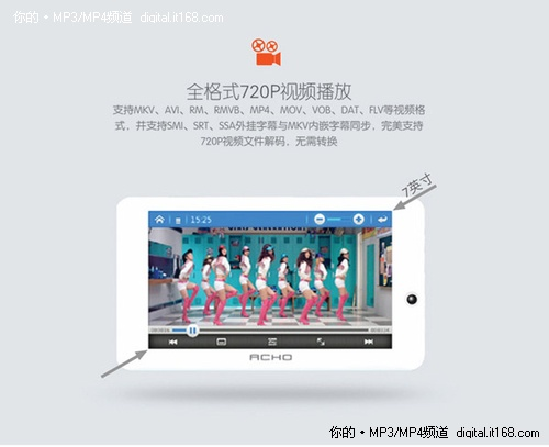 7寸智能超大屏 爱可新品A806功能解析