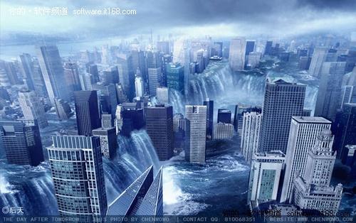 ps合成教程之2012城市风景