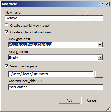 在ASP.NET MVC中对数据进行排序