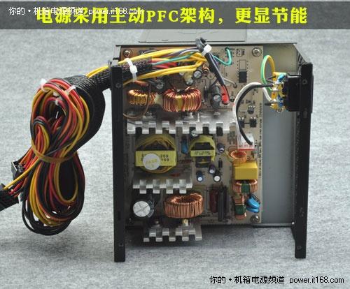 电源的12cm散热风扇是来自深圳厂商的产品,它是很多中低端电源的常