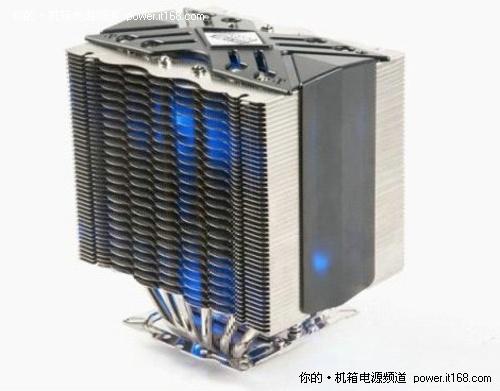 散热器,超频三南海6采用了高端的双塔中置风扇结构