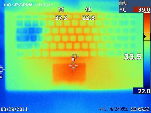比预想的要好 联想Y470满负荷温度实测