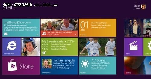 微软首次展示Windows 8:界面类似WP7