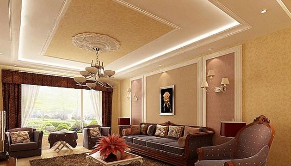 現代簡約風格 客廳天花板裝修效果圖賞