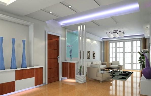 现代简约风格 客厅天花板装修效果图赏