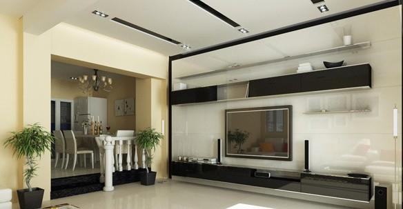 圖】現代簡約風格 客廳天花板裝修效果圖賞 - 數字 .