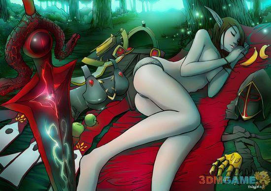 娇艳欲滴 《魔兽世界》血精灵画作欣赏