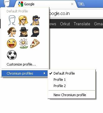 谷歌Chromium新增多用户代理和卡通头像
