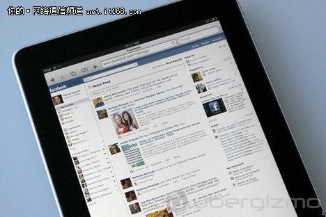 Facebook正式推出iPad平板电脑应用