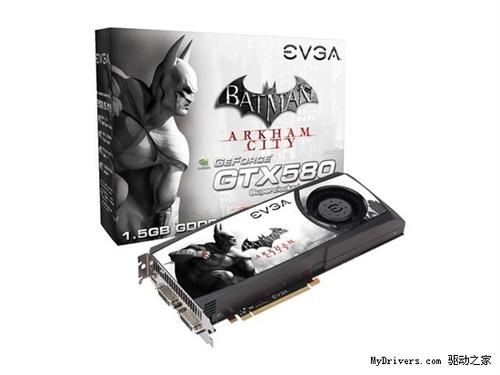 与公版无异 EVGA发《蝙蝠侠》版GTX580