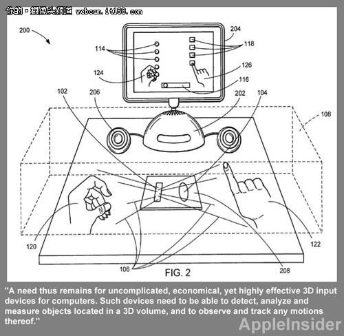 专利显示苹果正在研发类Kinect设备