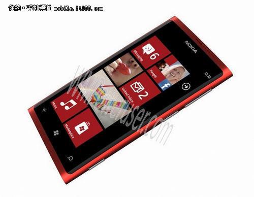 诺基亚Lumia800升级版曝光 机身仅9毫米