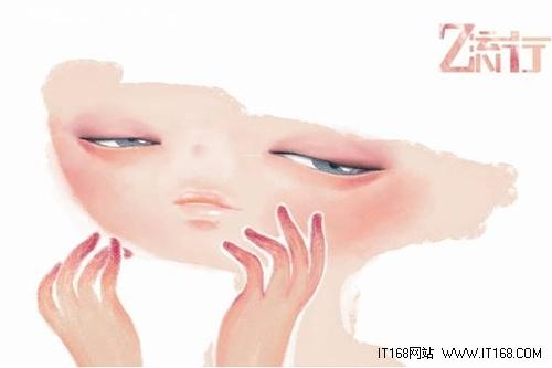 流行 青春/《随想》展示了一位唯美的女孩的脸,但是有些抽象和朦胧,也许...