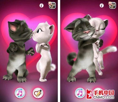 玩家只需使用手指点击屏幕,害羞的汤姆猫就能够壮起胆子亲吻或者拥抱