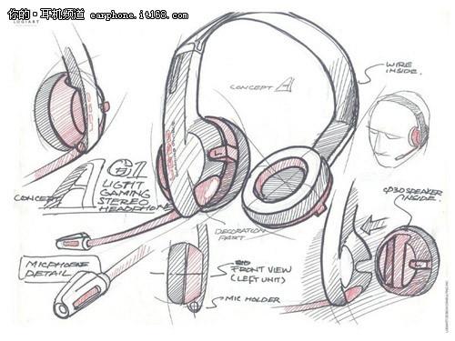图为声丽g系列产品设计手稿