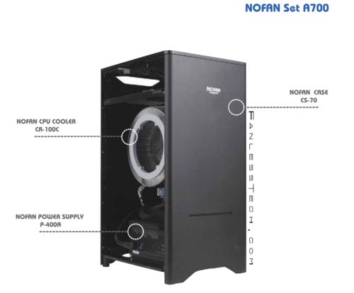 韩国NOFAN无扇机箱电源散热套装