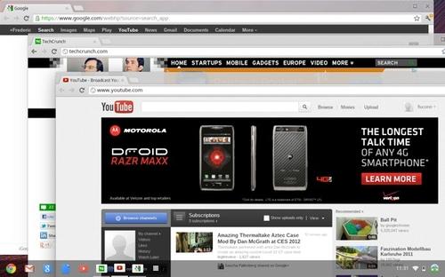 新版Chrome OS 看着更像Windows