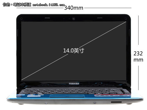 镜面炫彩闪耀机身 蓝色版东芝M805评测