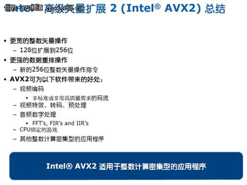 AVX2指令集的作用