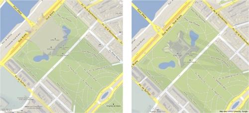 Google Maps里浏览到别样3D建筑小技巧