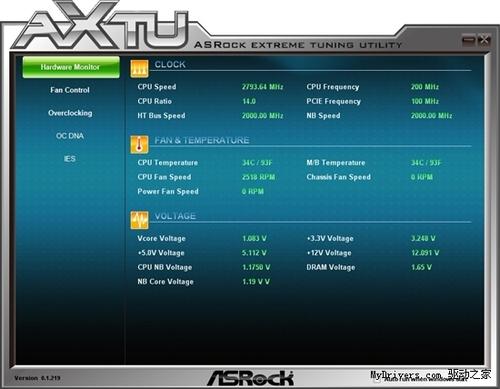 简单实用 华擎极限超频工具AXTU 1.219