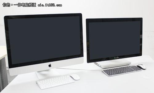 20(右)对比27寸苹果iMac-外观对比苹果iMac 触控操作新体验 联想
