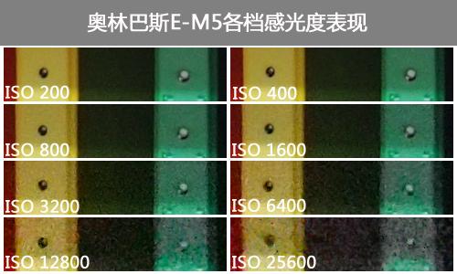奥林巴斯E-M5感光度测试