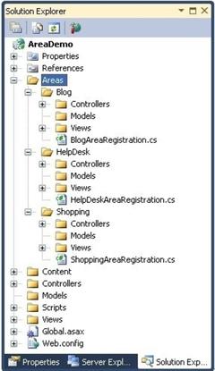 ASP.NET MVC中的Area分层模块处理