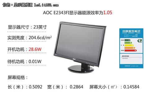 AOC E2343FI功耗、用户点评及评测总结