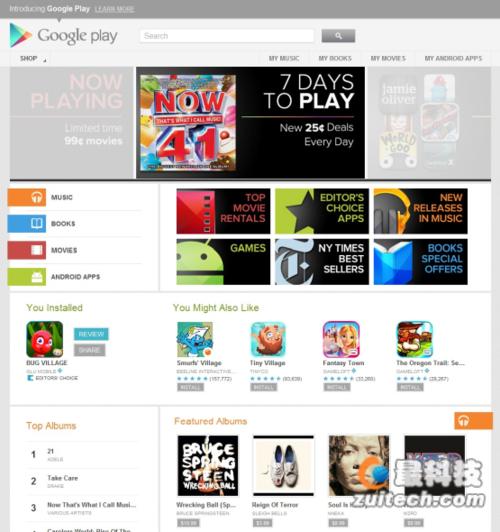 PlayStore商店改版 与安卓4.1系统契合